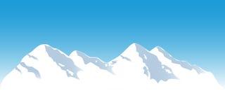Partes superiores nevado da montanha Foto de Stock Royalty Free
