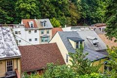 Partes superiores velhas do telhado Imagens de Stock Royalty Free