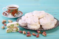 Partes tradicionais do iraniano e do persa da sobremesa branca s do nougat imagem de stock royalty free