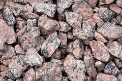 Partes vermelhas do granito Fotos de Stock