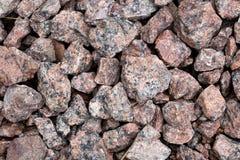 Partes vermelhas do granito Imagens de Stock