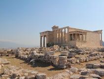 Erechtheion, Parthenon, Temple of Athena, Greece, Athens. The Parthenon /ˈpɑːrθəˌnɒnˌ -nən/; Ancient Greek stock photos