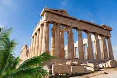 Parthenon świątynia w akropolu, Ateny, Grecja Obraz Stock