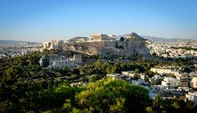 Parthenon, ακρόπολη της Αθήνας, άποψη στο ηλιοβασίλεμα Στοκ εικόνες με δικαίωμα ελεύθερης χρήσης