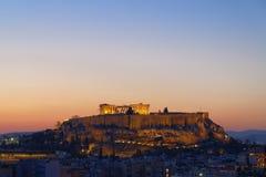 Parthenon, ακρόπολη και εικονική παράσταση πόλης της Αθήνας Στοκ φωτογραφία με δικαίωμα ελεύθερης χρήσης