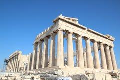 Parthenon, ναός Αθηνάς, Ελλάδα, Αθήνα στοκ φωτογραφία με δικαίωμα ελεύθερης χρήσης