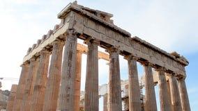 Parthenon στην ακρόπολη της Αθήνας απόθεμα βίντεο