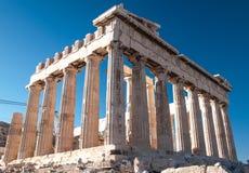 Parthenon στην ακρόπολη Στοκ Εικόνες