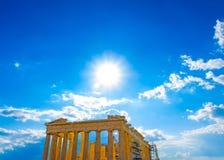 Parthenon της ακρόπολη Στοκ Φωτογραφία
