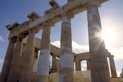 Parthenon της ακρόπολη Στοκ εικόνα με δικαίωμα ελεύθερης χρήσης