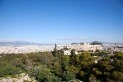 parthenon акрополя Стоковые Изображения RF