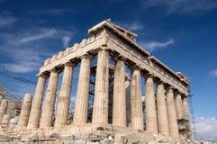 parthenon акрополя Стоковое Изображение
