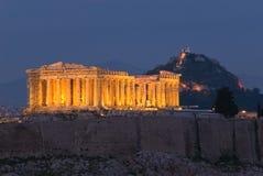 parthenon акрополя стоковая фотография rf