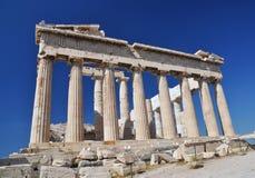 parthenon Афины Греции Стоковые Изображения