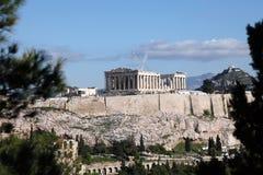 The Parthenon. In Athens Greece stock photo
