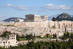 The Parthenon. In Athens Greece stock photography