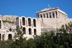 The Parthenon. In Athens Greece stock image