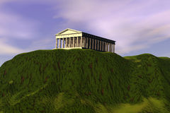 Parthenon illustration stock