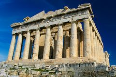 The Parthenon. The Acropolis of Athens: parthenon at athens, greece