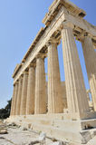 The Parthenon. Shot at the Acropolis of Athens Royalty Free Stock Image