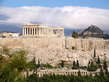 The Parthenon. On the Acropolis in Athens Greece royalty free stock photography
