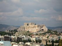 The Parthenon. In Athens royalty free stock photo