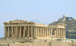 Parthenon. The Parthenon in Athens, Greece Stock Photos