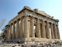 Parthenon. A view of the Parthenon Temple of Athena, Acropolis, Athens, Greece Royalty Free Stock Images