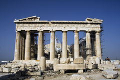 Parthenon. In Greece and blue sky Royalty Free Stock Image