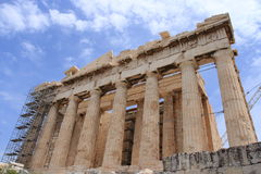 Parthenon. The Parthenon, dedicated by the Athenians to Athena Parthenos, the patron of their city, is the most magnificent creation of Athenian democracy at the Stock Images
