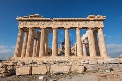 Parthenon aan de kant van het Akropolisoosten Royalty-vrije Stock Fotografie