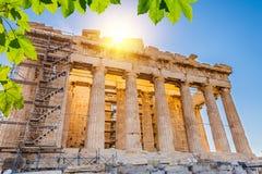 Parthenon in acropoli, Atene Fotografie Stock Libere da Diritti