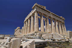 Parthenon at the Acropolis. Dedicated to the Greek goddess Athena, the Parthenon is an ancient ruined temple in the Athenian Acropolis, Greece Royalty Free Stock Photos