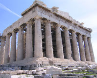 Parthenon at Acropolis hill in Athens Greece Royalty Free Stock Photo