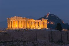 Parthenon of the Acropolis Royalty Free Stock Photography