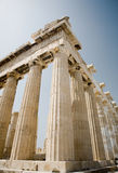 Parthenon on the Acropolis, Athens. A view of the Partheon on the Acropolis in Athens Greece stock photo