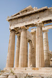 Parthenon on the Acropolis, Athens. A view of the Partheon on the Acropolis in Athens Greece stock photos