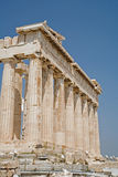 Parthenon on the Acropolis, Athens. A view of the Partheon on the Acropolis in Athens Greece royalty free stock photo