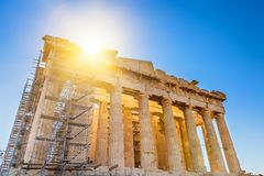 Parthenon in Acropolis, Athens Stock Images