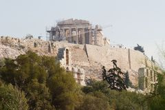 Parthenon Acropolis of Athens Stock Photos