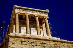 The Parthenon on the Acropolis in Athens Royalty Free Stock Photos