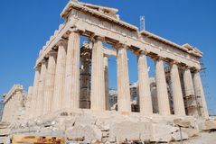 Parthenon in Acropolis, Athens Royalty Free Stock Photography