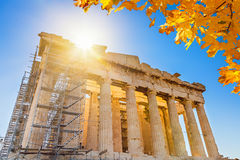 Parthenon in Acropolis, Athens Stock Photos