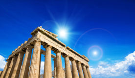 Parthenon on the Acropolis Stock Photography