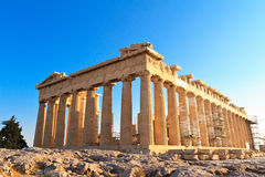 Parthenon on the Acropolis in Athens Royalty Free Stock Photo