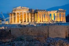 Parthenon on the Acropolis in Athens Stock Images