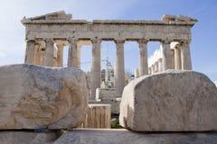 Parthenon. At Acropolis Athens Greece Stock Image