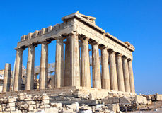 Parthenon on the Acropolis, Athens, Greece Royalty Free Stock Photos