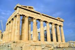 Parthenon on the Acropolis in Athens Stock Image