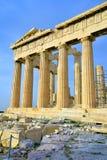 Parthenon on the Acropolis in Athens Royalty Free Stock Photos